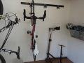 Storage room with bike equipment